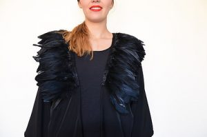 The Eve : black feather - € 65.00 - shop over here