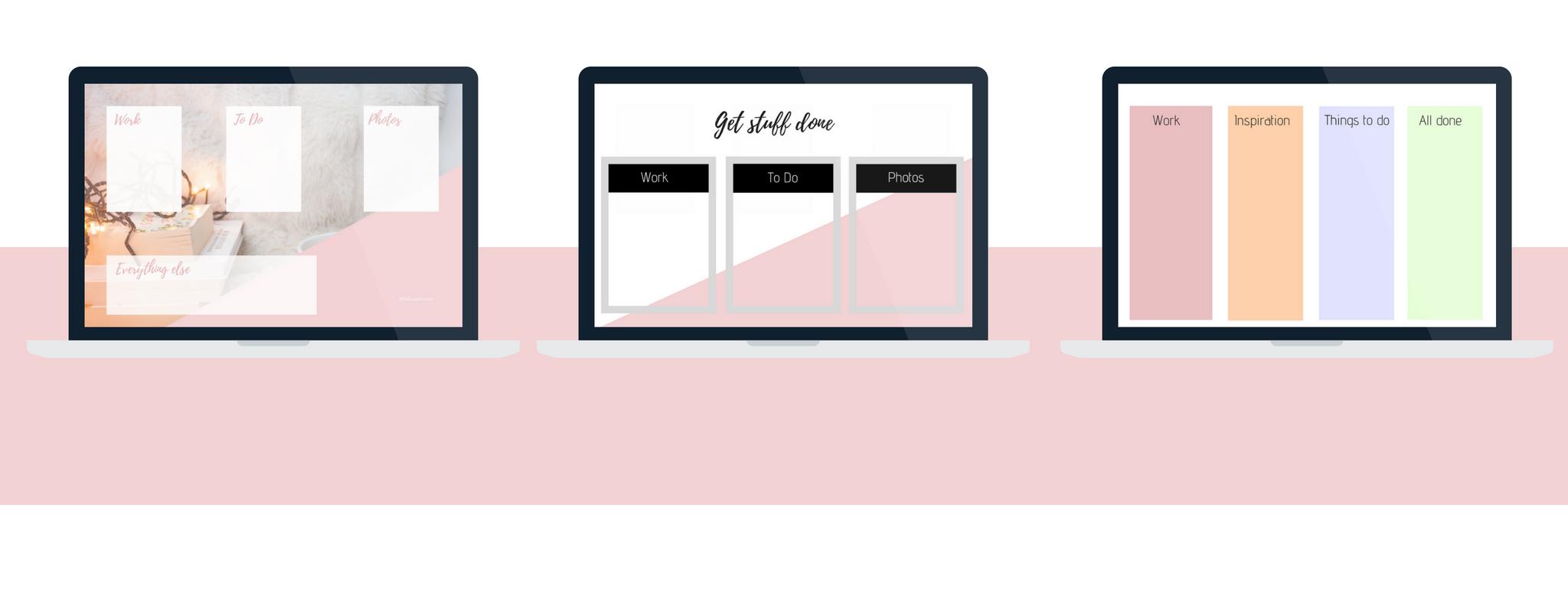 Desktop organizer templates