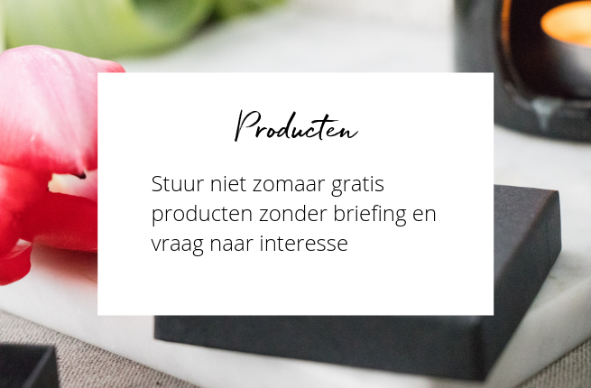 Gratis producten influencer marketing
