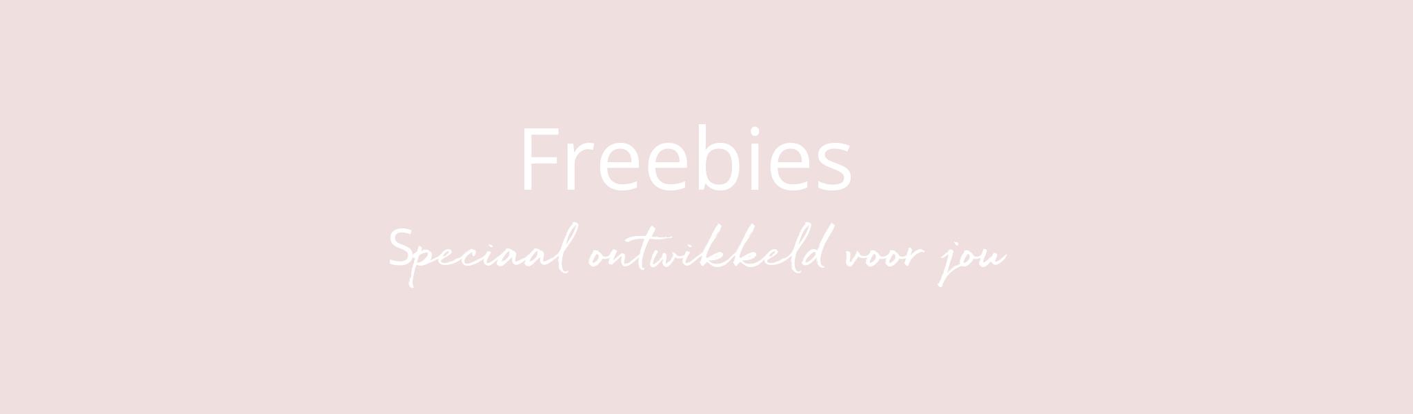 Freebies ontwikkeld voor jou (1)