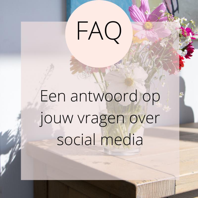 FAQ: een antwoord op jouw vragen over social media en online marketing