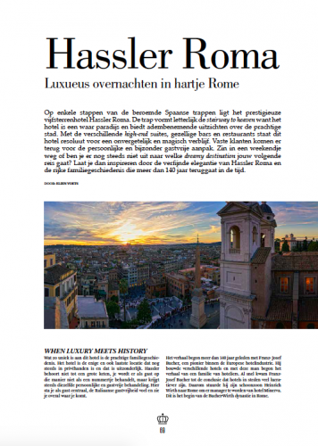 Article Hassler Roma